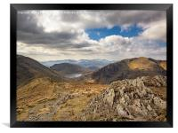 Griesdale Tarn From St Sunday Crag, Framed Print