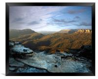 The Blue Mountains at Dawn, Framed Print