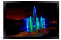 Fountain at the Electric Forest, Framed Print