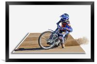 Racing on the Edge, Framed Print