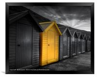Beach Huts at Whitby, Framed Print