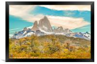 Monte Fitz Roy, Patagonia - Argentina, Framed Print