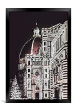 Santa Maria del Fiore Cathedral, Florence, Framed Print