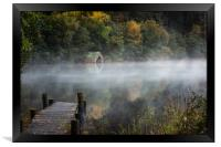 Early morning mist by the Old Boathouse , Framed Print