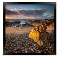 Golden Rock at St Monans, Framed Print