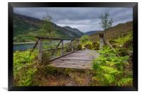 Old Wooden Bridge on the path to Barisdale, Framed Print