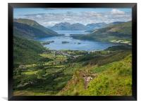 The path to the Pap of Glencoe, Framed Print