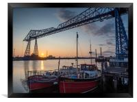 Sunrise at Middlesbrough Transporter Bridge, Framed Print