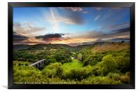 Monsal Head skyline, Framed Print