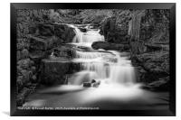 Lumsdale Mill lower falls, Framed Print