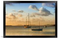 Caribbean Evening Anchorage, Framed Print