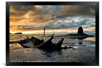 Black Nab and the wreck of the Admiral Von Tromp a, Framed Print