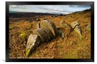 Abandoned Mill Stones, under Stanage Edge, the Pea, Framed Print