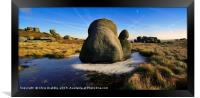 The Moat Stone, Kinder Scout, Framed Print