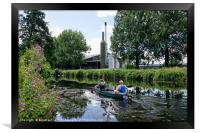Canoeing Along The Exeter Canal, Framed Print