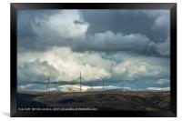 Brecon Beacons and Wind Turbines, Framed Print