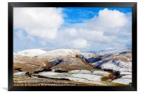 The Snowy Hills above Moffat in Winter, Framed Print
