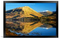 Autumn reflections on Loch Long, Framed Print
