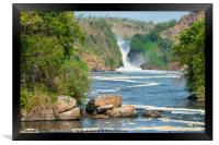 Murchison Falls from the Victoria Nile in Uganda, Framed Print