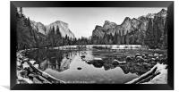 Dramatic view of Yosemite Valley., Framed Print