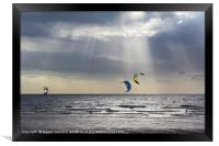 Kiteboarders at Cleveleys, Framed Print