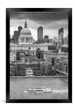 LONDON, UK - OCTOBER 20, 2016: High angle view of , Framed Print