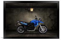 BMW F 650 Old Room, Framed Print
