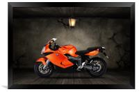 BMW K1300S Old Room, Framed Print