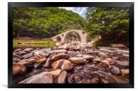 The Devils Bridge, Framed Print