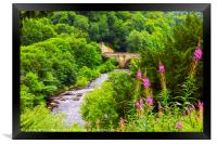 The Green Bridge and River Swale, Framed Print