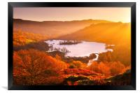 Rydal Water at sunrise, Framed Print