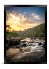 Sunset on River Sona, Framed Print