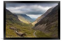 The Hills Of Snowdonia, Framed Print