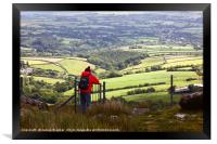 Country Views from Bodmin Moor Cornwall, Framed Print