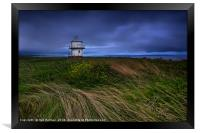 Rhych Point Tower, Porthcawl, Framed Print