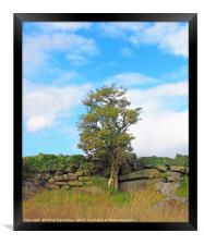 standing against the wall, Framed Print