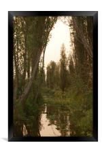 Mexican water district of Xochimilco. , Framed Print