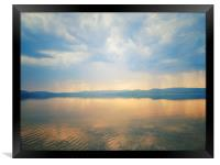 Sunset on the Lake Turgoyak, Framed Print