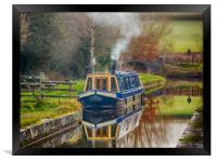 Canal Boat on Brecon and Monmouthshire Canal., Framed Print