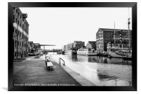 View along the Canal, Framed Print