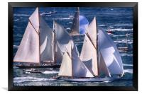 Yachts off The Isle of Wight, Framed Print