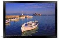 The Harbour at Nafplio, Framed Print