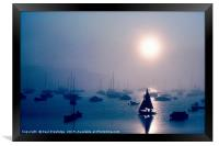 Sailing in the Mist, Brixham, Framed Print