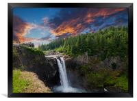 Snoqualmie Falls Early Morning, Framed Print
