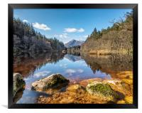 View from lake Lochan, Framed Print