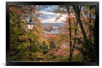 Autumnal view from St Giles Hill in Winchester, Framed Print
