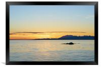 Sunset, Skye, Point of Sleat, Cullin mountains, Framed Print