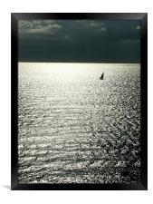 Running from the storm, Framed Print