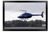 1980 Bell Helicopter Textron BELL 206B, Framed Print