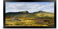 Pen Y Fan and Cribyn, Brecon Beacons late summer., Framed Print